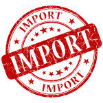 IMPORT red stamp